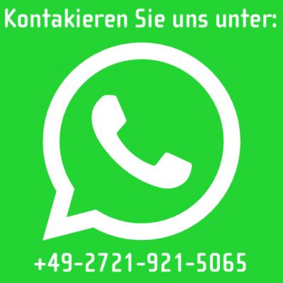 Ab sofort sind wir auch direkt per WhatsApp erreichbar.